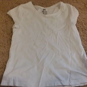 White shirt brand h and m size 8
